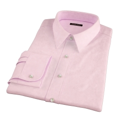 Morris Pink Wrinkle-Resistant Houndstooth Men's Dress Shirt