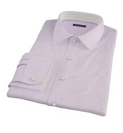 Thomas Mason Pink Mini Houndstooth Fitted Shirt