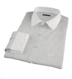 Canclini Light Gray End on End Tailor Made Shirt