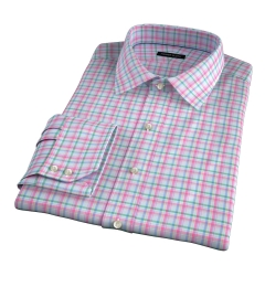 Thomas Mason Pink Spring Plaid Custom Dress Shirt