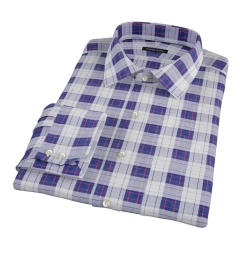 Canclini Etna Plaid Fitted Dress Shirt