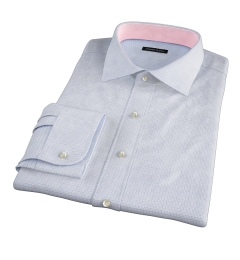 Madison Light Blue Tattersall Fitted Dress Shirt
