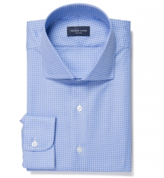 Morris Blue Small Check Dress Shirt