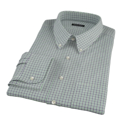 Canclini 120s Green Multi Gingham Men's Dress Shirt