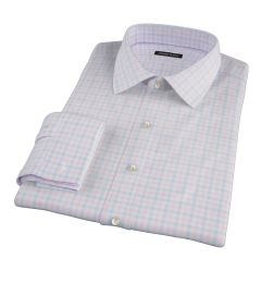 Thomas Mason Pink Multi Check Men's Dress Shirt