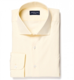 Genova 100s Yellow End-on-End Men's Dress Shirt
