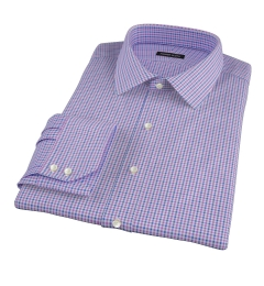 Canclini Purple 120s Multi Gingham Dress Shirt