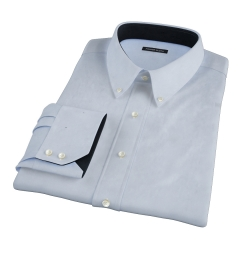 Thomas Mason Goldline Light Blue Fine  Twill Fitted Shirt