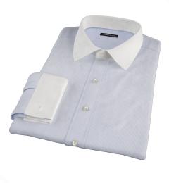 Carmine Blue Fine Stripe Custom Dress Shirt