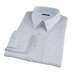 Mercer Blue Medium Grid Fitted Shirt