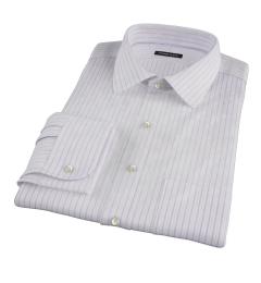 Albini Lavender Satin Stripe Tailor Made Shirt