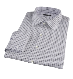 Canclini Grey and Black Multi Gingham Men's Dress Shirt