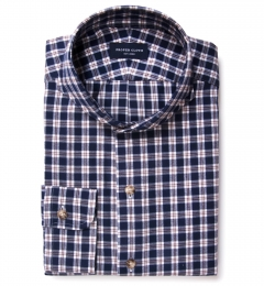 Brown Blue Tacoma Check Flannel Tailor Made Shirt