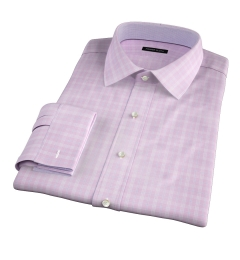 Thomas Mason Goldline Pink Glen Plaid Men's Dress Shirt