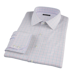Thomas Mason Pink Multi Check Fitted Shirt