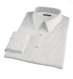 Albini White Oxford Chambray Custom Made Shirt