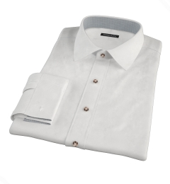 White 100s Broadcloth Custom Dress Shirt