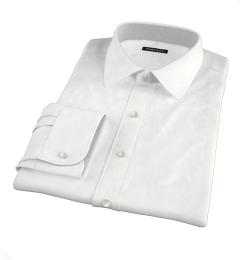 DJA Sea Island White Royal Twill Custom Dress Shirt