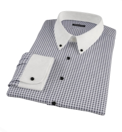 Medium Black Gingham Custom Made Shirt