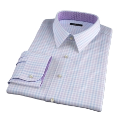 Adams Lavender Multi Check Fitted Dress Shirt