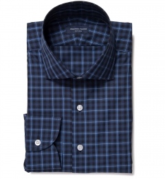 Vincent Blue and White Plaid Tailor Made Shirt