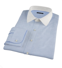 Canclini Blue Stretch Broadcloth Dress Shirt