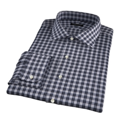 Albiate Light Grey Melange Plaid Tailor Made Shirt