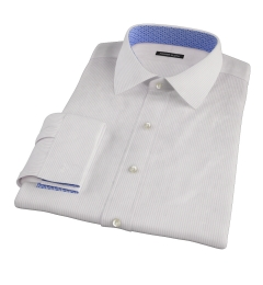 140s Lavender Fine Stripe Fitted Shirt