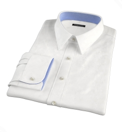 White Basketweave Fitted Shirt