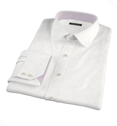 Canclini White Luxury Seersucker Custom Dress Shirt