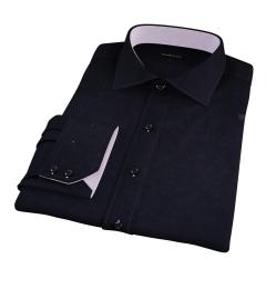 Mercer Black Broadcloth Men's Dress Shirt