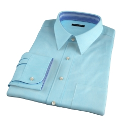 Genova 100s Aqua End-on-End Men's Dress Shirt