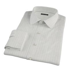 Light Blue Satin Stripe Tailor Made Shirt