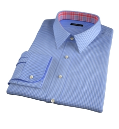 Morris Blue Small Check Fitted Dress Shirt