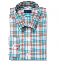 Dorado Aqua Plaid Dress Shirt