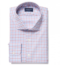 Thomas Mason Crimson Multi Check Fitted Shirt