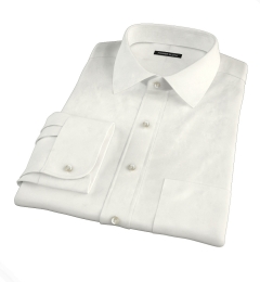 Ivory Regal Twill Fitted Dress Shirt