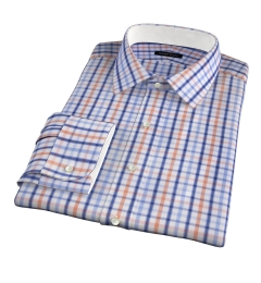 Catskill 100s Amber Multi Check Tailor Made Shirt
