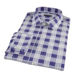 Canclini Etna Plaid Custom Dress Shirt