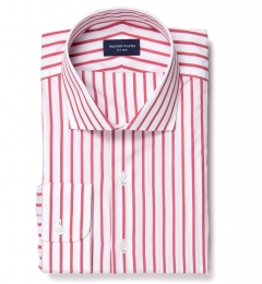 Canclini Red Wide Stripe Tailor Made Shirt