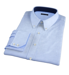 Bowery Blue Wrinkle-Resistant Pinpoint Dress Shirt
