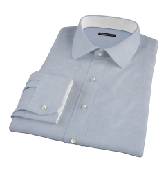 Light Blue Wrinkle Resistant Rich Herringbone Tailor Made Shirt