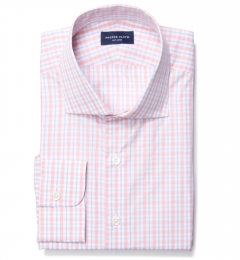 Novara Melon 120s Check Fitted Shirt