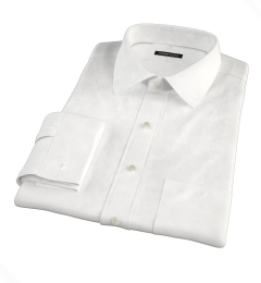DJA Sea Island White Broadcloth Fitted Dress Shirt