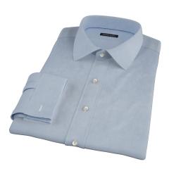 Sky Blue Wrinkle Resistant Cavalry Twill Custom Dress Shirt