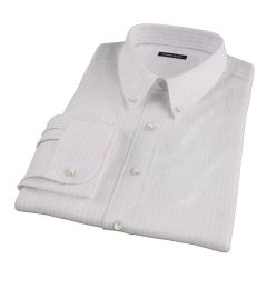 Pink University Stripe Heavy Oxford Men's Dress Shirt