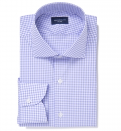 Melrose 120s Lavender Mini Gingham Custom Made Shirt
