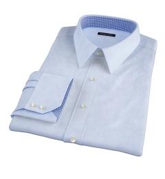 Thomas Mason Goldline Light Blue Fine  Twill Custom Made Shirt