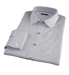 Albini Blue Yellow Horizon Stripe Men's Dress Shirt