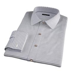 Albini Blue Yellow Horizon Stripe Men's Dress Shirt